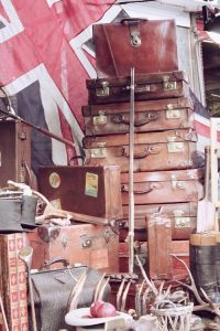 Suitcases at Portobello Market