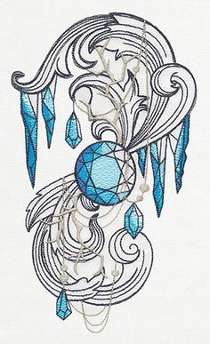 Snow Queen - Arctic Spiral | Urban Threads: Unique and Awesome Embroidery Designs
