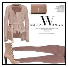 """""""Natural woman"""" by kennystylesd ❤ liked on Polyvore featuring Haider Ackermann, AG Adriano Goldschmied, Jimmy Choo and Yves Saint Laurent"""