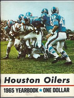 1965 Houston Oilers AFL yearbook.