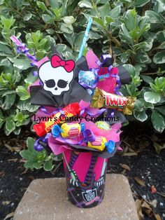 Monster High Kids Candy Party Favors Made to Order. $0.20, via Etsy.
