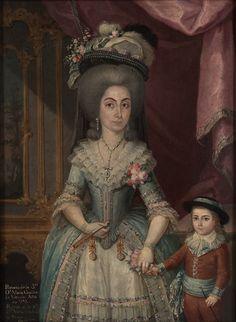 Doña María Catalina de Urrutia, 1788 Jose Campeche - Style - Rococo