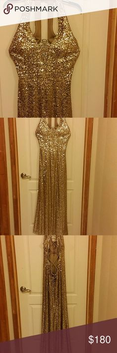 Evening gold dress by Ignite Beautiful gold dress only used once. Ignite Dresses Prom