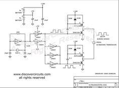 Circuit Medium Power 40KHz Ultrasound Transducer Driver designed by David A. Johnson, P.E.