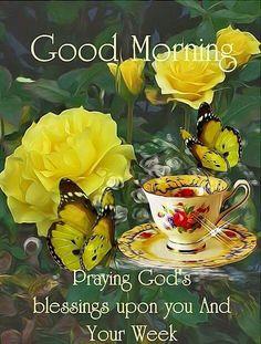 Good Morning New Week Blessings Prayers Monday Morning Blessing, Happy Morning Quotes, Good Monday Morning, Good Morning Texts, Morning Morning, Good Morning Greetings, Good Morning Good Night, Good Morning Wishes, Good Morning Images