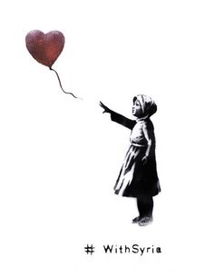 #Banksy Reworks Famous Piece To Mark Third Anniversary Of Syria Conflict Balloon Girl
