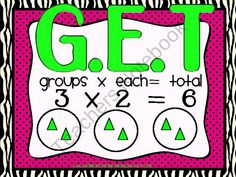 G.E.T. Multiplication Poster FREEBIE product from Saddle-Up-For-2nd-Grade on TeachersNotebook.com