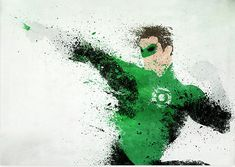 Green lantern in ink
