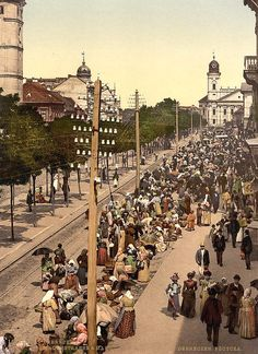 Debrecen Hungary Market Place - old postcard from the USA National Library Hungary History, Austro Hungarian, Central Europe, Budapest Hungary, Historical Pictures, Old Postcards, Old Photos, Paris Skyline, Dolores Park