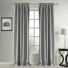 (Two Panels) Classic Suede Solid Blackout Curtain  – AUD $ 133.43