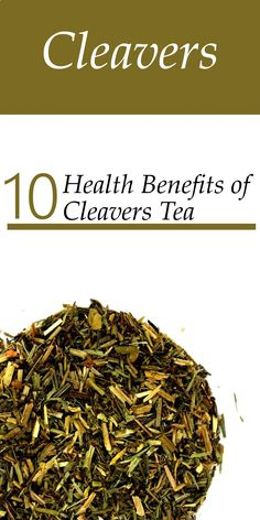 Health benefits of Cleavers include clearing heat, reducing inflammation and promoting tissue repair. Cleavers are a traditional Spring cleansing tonic. This herbal medicine also effectively treat acne, appetite loss, kidney stones, bladder stones, swollen lymph glands and ovarian cysts.