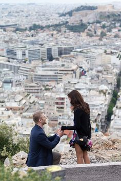 Matt had the most romantic idea, a surprise proposal Athens Greece. We worked together to find the perfect place, a specific spot at Lycabettus Hill. Athens Acropolis, Athens Greece, Romantic Proposal, Most Romantic, Dream Life, My Dream, Greece Photography, Wedding Proposals, Surprise Proposal