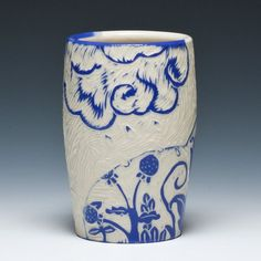 """Kathy King """"April Showers"""" Mug  texture is amazing!!! almost like a carved etching plate"""