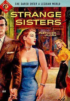 Strange Sisters - 1954 - Pulp Novel Cover Poster