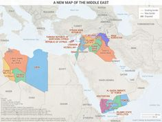 Map shows Middle East based on who actually holds territory Asian History, British History, Tudor History, Strange History, History Facts, The Middle, Middle East, Fantasy Map, Alternate History