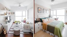A Look Inside the Charming Home of a Real Living Reader Condo Interior Design, Small Apartment Design, Condo Design, Tiny House Design, Small Apartments, 2 Bedroom Apartment, Decorating Tips, House Tours, Space
