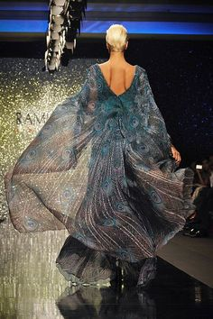 "haute couture peacock dress | Rami Al-Ali - Haute couture - ""The Peacock in you"", A-H 2009-2010"