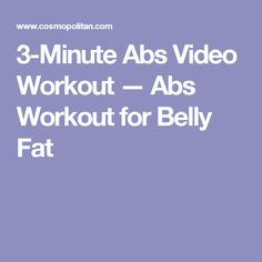 3-Minute Abs Video Workout —Abs Workout for Belly Fat