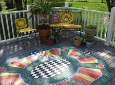 artist's designs on patio