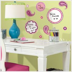 Paisley Dry Erase Wall Decals