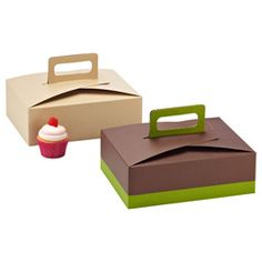 The Container Store > Treat Box with Handle Organic Packaging, Food Packaging, Packaging Design, Gift Boxes With Lids, Box With Lid, Stock Box, Printable Box, Container Store, Box Cake
