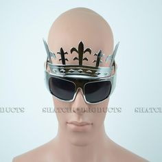 Novelty silver crown glasses. #Novelty #Glasses #PartyIdeas #Glasses #Crown #Silver #PartyAccessories #DressUp #FancyDress #Costume #Party #PartySupplies #Partyngifts Novelty Sunglasses, Cool Glasses, Kings Crown, Royal Dresses, Fancy Dress, Costume, Party, Silver, Accessories
