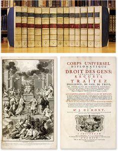 Corps Universel Diplomatique du Droit des Gens... 24 books in 13 vols | Jean Dumont, Jean Rousset de Missy, J. Barbeyrac