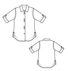 Burda 03/2013 - Le chemisier en lin est classique, avec des pattes de serrage aux manches et aux ourlets, sur les côtés.