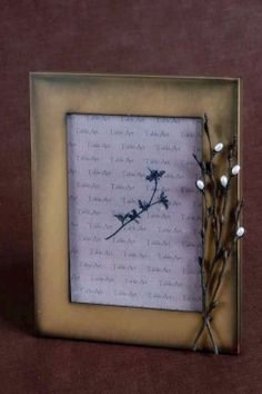 Frame Pussy Willow - Gold-plated pewter with freshwater pearls. American made. $78