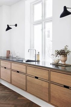 60 Contemporary Wooden Kitchen Cabinets For Home Inspiration. Choosing the perfect wooden kitchen cabinets for your home is not as simple as it might appear. While the choices are limited, . Wooden Kitchen Cabinets, Kitchen Furniture, Kitchen Decor, Furniture Stores, Basement Kitchen, Brown Furniture, Furniture Showroom, Kitchen Paint, Cheap Furniture