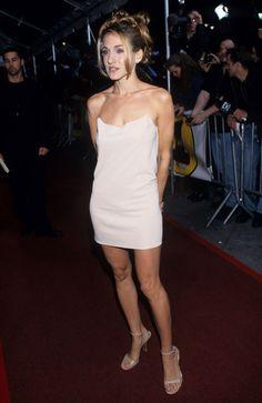 Sarah Jessica Parker en slip dresses pendant les Vogue Fashion Awards au Madison Square Garden, en 1997 à New York