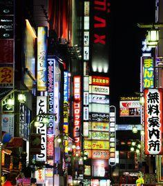 illuminated signs, tokyo, japan | travel destinations in east asia + city night lights #wanderlust