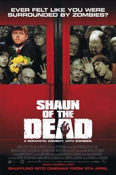Shaun of the Dead. Britisk zombie comedy. A zom-com. Der er faktisk lidt romantik også, så rom-zom-com.