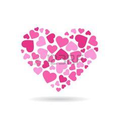 Love hearts doing a big heart.  Vector   design Stock Vector - 51423281