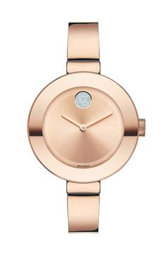 Free shipping and returns on Movado 'Bold' Crystal Accent Bangle Watch, 34mm at Nordstrom.com. A pavé Museum dot adds a lovely touch of sparkle to a minimalist bangle watch forged from high-polished, ion-plated steel.