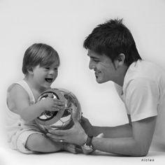 David Villa & a little boy