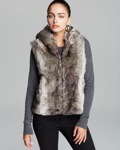 Surell Faux-Fur Hooded Vest | Bloomingdale's