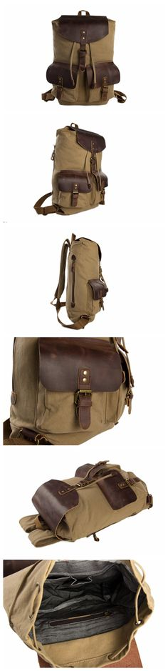 SLR Printing Canvas Shoulder Bag Western Wind Personality Fashion Leisure Outdoor Travel wear Mens Backpack,A,One Size
