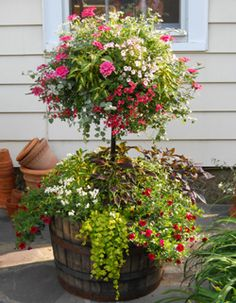 old floor lamp upcycled into a planter