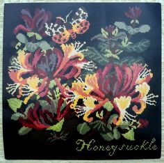 Elizabeth Bradley The Climbing Flowers Series The Honey Suckle Needlepoint Kit Stamped Canvas with Wool and Pattern https://www.etsy.com/ca/listing/183293966/elizabeth-bradley-the-climbing-flowers?ref=shop_home_active_2