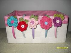 5 Beautiful  Flower crocheted baby girlstoddlers by MadebyMily, $10.00