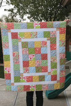 Quick Scrap Quilt Patterns Super Quick And Easy Baby Quilt New Moms Will Love Quilting Digest More Quick Quilts Patterns Easy Quick Quilts Patterns Patchwork Quilt, Lap Quilts, Scrappy Quilts, Small Quilts, Amish Quilts, Hexagon Quilt, Quilt Baby, Baby Quilt Patterns, Quilting Patterns