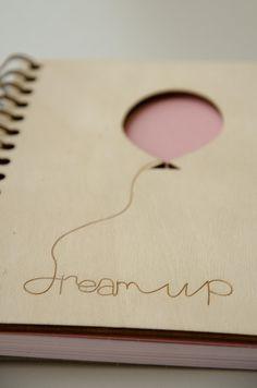 Hand made notebook. Wooden cover notebook. A5 sketchbook.