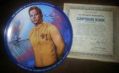 Star Trek Collector Plate - Captain Kirk on Etsy