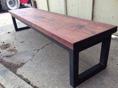 Salvaged Black Walnut Custom Bench Decor, Wood, Table, Reclaimed Wood, Furniture, Wood Furniture, Custom Benches, Home Decor, Reclaimed Wood Furniture