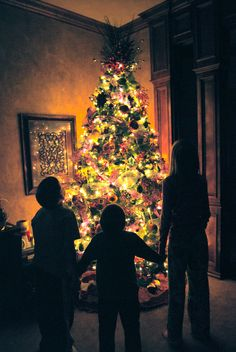 Awesome picture idea have the family stand around the tree