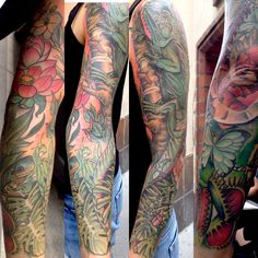 iguana in jungle sleeve