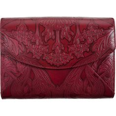 L'Wren Scott Small Stamped Leather Pouchette ($1,039) ❤ liked on Polyvore