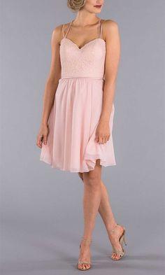 Simple & Functional Bridesmaid Dress Ideas for 2017 Spring Weddings-4 Blush Pink Bridesmaid Dresses, Blush Pink Wedding Dress, Knee Length Bridesmaid Dresses, Designer Bridesmaid Dresses, Bridesmaids, Nova Dresses, Cute Dresses, Formal Gowns, Formal Wear