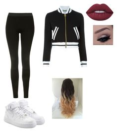 """Untitled #17"" by alyssahislope22 ❤ liked on Polyvore featuring Topshop, Moschino, NIKE and Lime Crime"